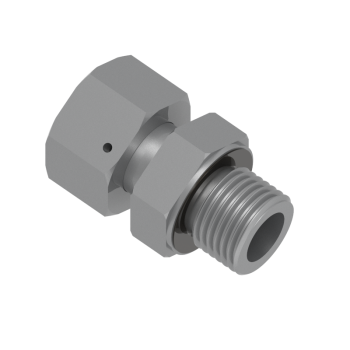 DEGE-12S-M18-STEL Swivel Adapter Metric Paralled