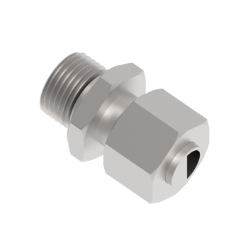 DMC-15L-M18ED-SS316 Male Connector Metric Paralled With Ed Ring