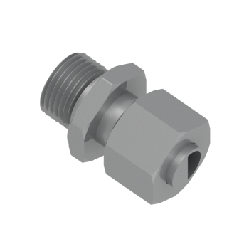 DMC-8L-M12ED-STEL Male Connector Metric Paralled With Ed Ring