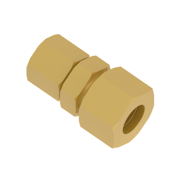 DUR-12L-06L-BRAS Din2353 Tub To Tube Reducing Union