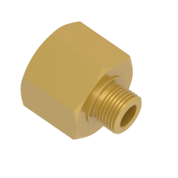 H-MFAE-12-24G-BRAS Male Female Adapters Bsp Paralled A