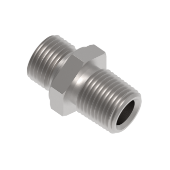 H-SNA-8NG-S316 Hex Nipple Male Npt To Male Iso Parallel
