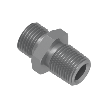 H-SNA-4NG-STEL Hex Nipple Male Npt To Male Iso Parallel