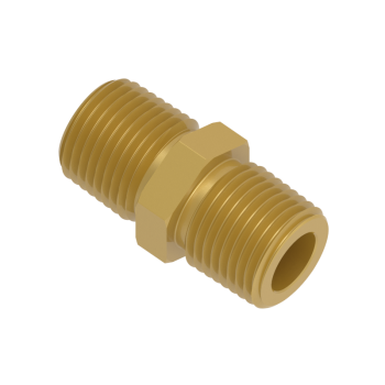 H-SNA-2NR-BRAS Hex Nipple Male Npt To Iso Tapered