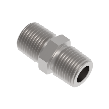 H-SNA-8NR-S316 Hex Nipple Male Npt To Iso Tapered