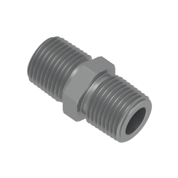 H-SNA-12NR-STEL Hex Nipple Male Npt To Iso Tapered