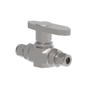 HB2H-2T-S316 2 Way Shut Off Valve Forged High Pressure Ball Valves