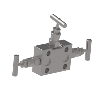 M3V2DM 3 Valves Dual Block Flange
