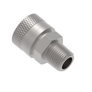 QF4CM-16R Qf Series Male Pipe Thread Body Connector Fittings