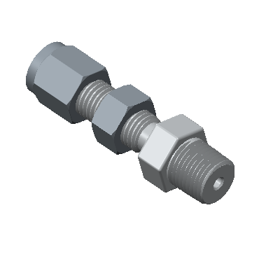 CBMC-6-8N-STEL Tube To Pipe Bulkhead Male Connector