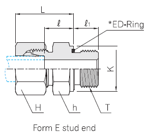 Male Connector (BSP paralled) with *ED-Ring - Product Catalog