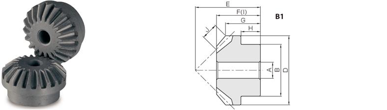 KHK LM1-20, Module 1, 20 Tooth, Sintered Metal Miter Gears