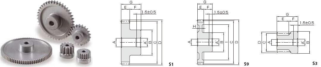 KHK LS0.5-16,模数0.5,16齿,金属烧结正齿轮