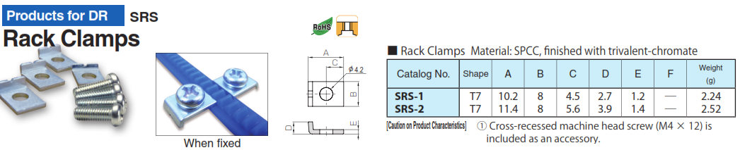 KHK SRS-1, Rack Clamps