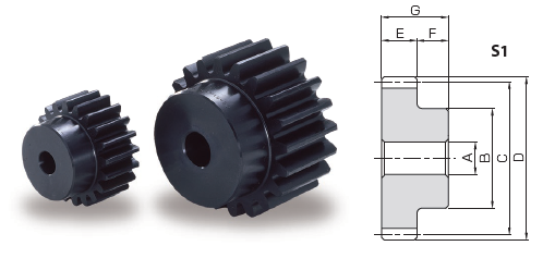 KHK KS1.5-30H,模块1.5,30齿,硬化合金钢齿轮