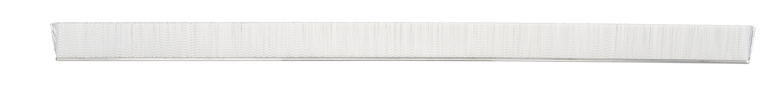 Tanis Brush MB406036 Metal Back Strip Brush with 3//16 Stainless Steel Backing 0.004 Diameter Brass Bristles 3 Overall Length 1 Trim Length