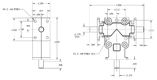 RAB-1 - Right Angle Miter Gearbox